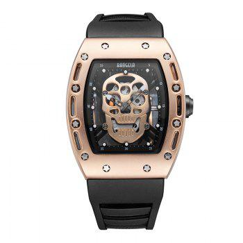 Baogela 1612 Fashionable Creative Silicon Band Men Watch - ROSE GOLD ROSE GOLD