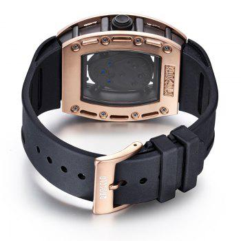 Baogela 1612 Fashionable Creative Silicon Band Men Watch - ROSE GOLD