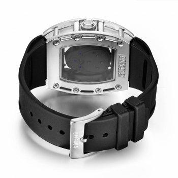 Baogela 1612 Fashionable Creative Silicon Band Men Watch - WHITE