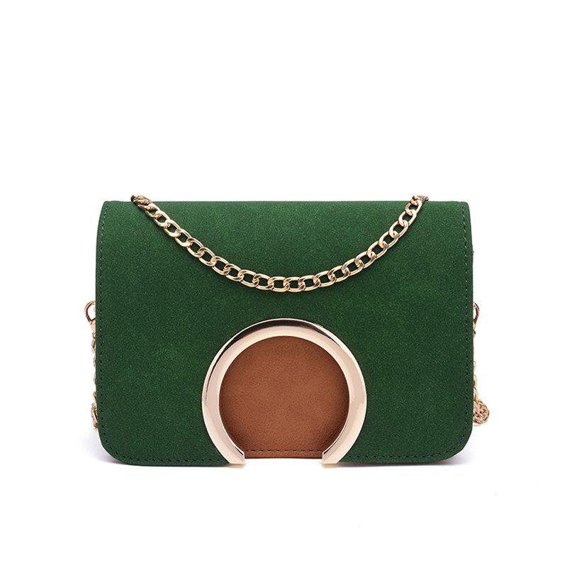 Women's Contracted Small Package Edition Mini Chain Single Shoulder Bag - GREEN
