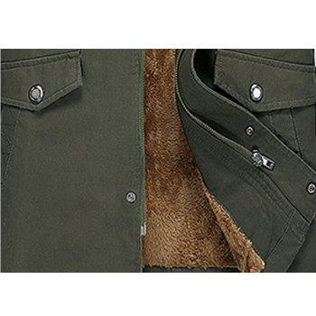 Men Winter Solid Warm Coat - ARMYGREEN 2XL