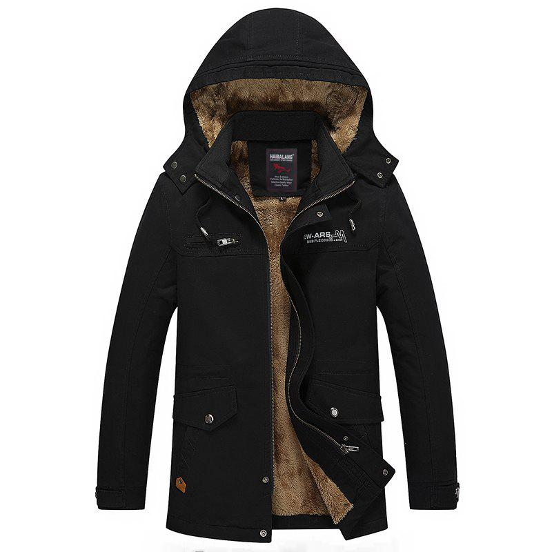 Men Winter Solid Warm Coat winter men