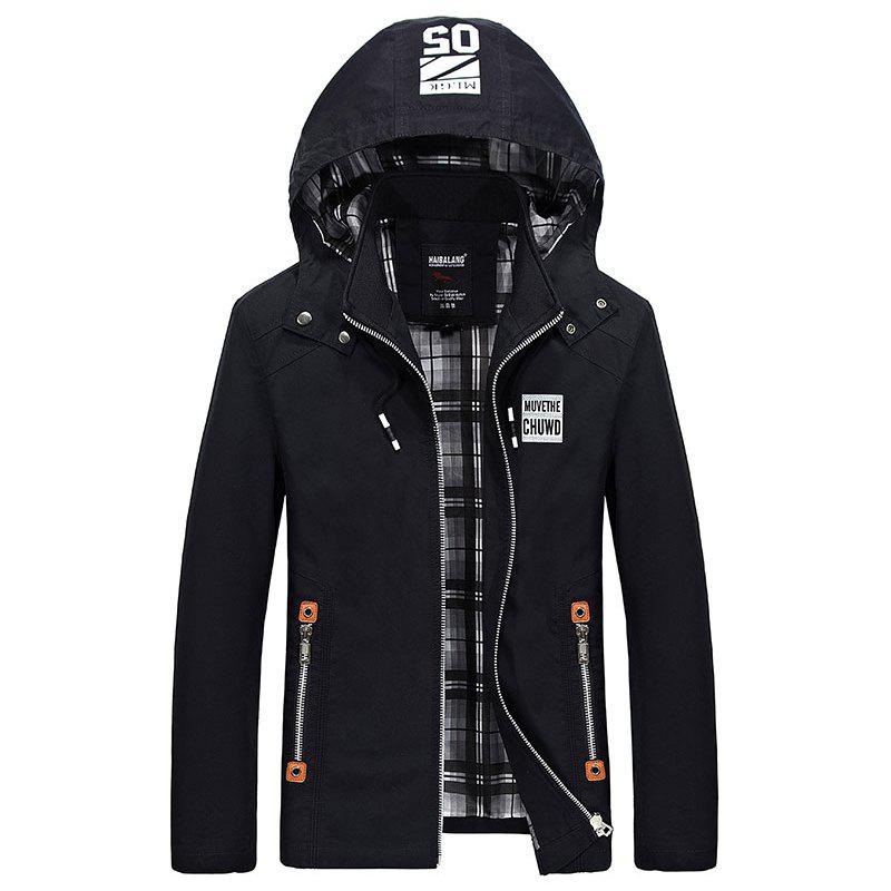 Autumn Hot Sale Men Fashion Korean Jacket - BLACK L