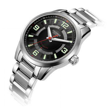 CADISEN C8100 Men Stainless Steel Case Automatic Wristwatch - BLACK / SILVER