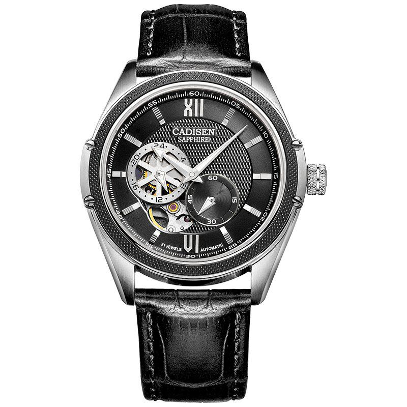 CADISEN C8102 Men Automatic Wrist Watch - BLACK / SILVER