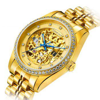 CADISEN C8105 Men Waterproof  Mechanical Watch - GOLDEN