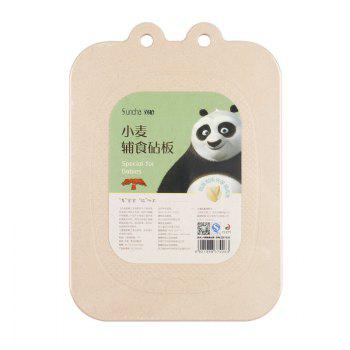 Suncha Kung fu Panda Wheat Supplementary Cutting Board -  LIGHT BROWN