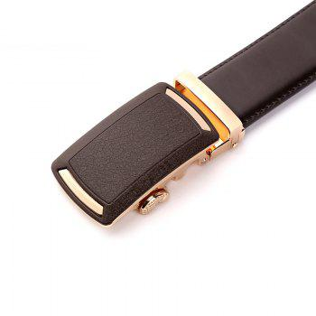 Men's Leather Belt  Dress Ratchet  with Nickel-free Automatic Buckle G89001 - BROWN 110CM