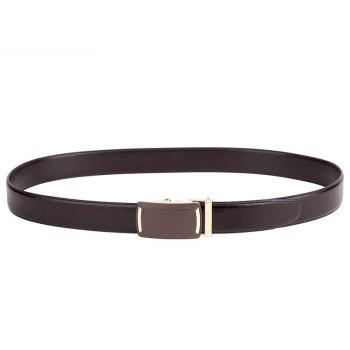 Men's Leather Belt  Dress Ratchet  with Nickel-free Automatic Buckle G89001 - BROWN 120CM