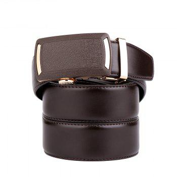 Men's Leather Belt  Dress Ratchet  with Nickel-free Automatic Buckle G89001 - BROWN 105CM