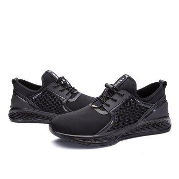 Men Casual Fashion Outdoor Leather Rubber High Quality Shoes - BLACK 40