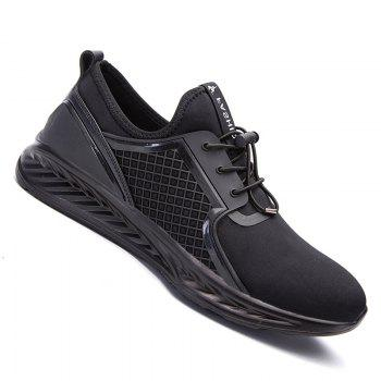 Men Casual Fashion Outdoor Leather Rubber High Quality Shoes - BLACK BLACK