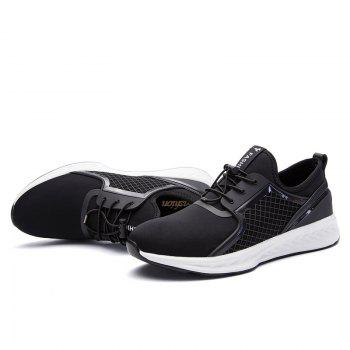 Men Casual Fashion Outdoor Leather Rubber High Quality Shoes - BLACK WHITE 40