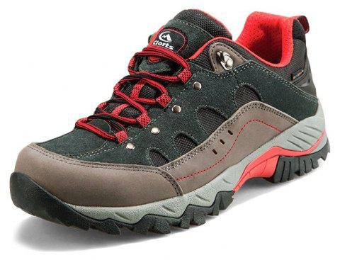 Hiking Sneakers Low-cut Sport Shoes Breathable Athletic Outdoor Shoes for Men - DARK GRAY 42