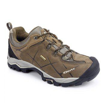 Clorts Hiking Boots Hot Sale Waterproof Uneebtex Hiking Shoes Genuine Leather Outdoor Sneakers for Men - BROWN BROWN