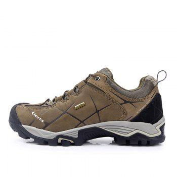 Clorts Hiking Boots Hot Sale Waterproof Uneebtex Hiking Shoes Genuine Leather Outdoor Sneakers for Men - BROWN 40