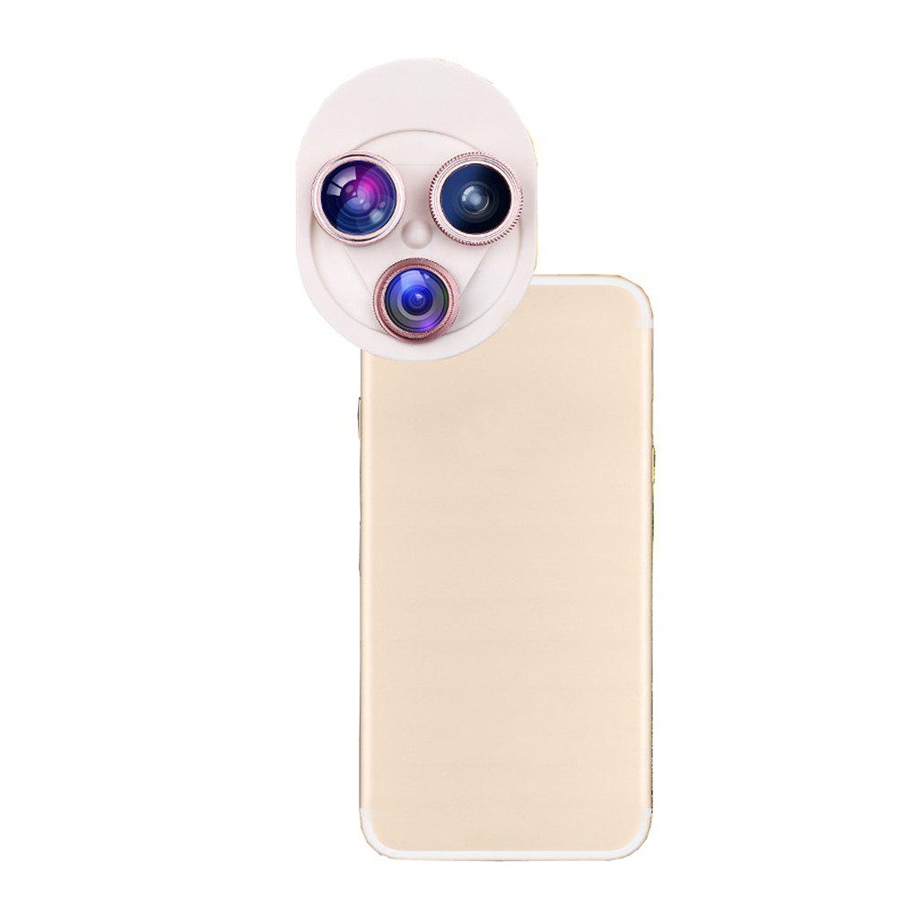Mobile Phone Lens Universal Rotary 198 Degree  Fish Eyes 0.63x Wide-Angle Macro Polarizer ZM-018 - GOLDEN