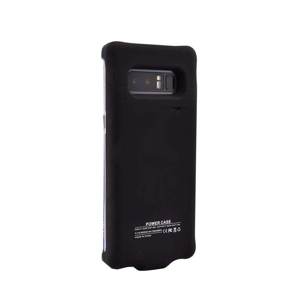 XY16 Back Clip Battery Charger Shell for Mobile Phone for Samsung Note 8 - BLACK