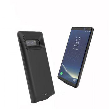 XY001 Charging Back Clip Large Capacity Mobile Phone Battery for Samsung Note 8 - BLACK