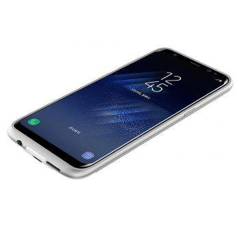 XY004 High Capacity Aluminum Alloy Without Chin Back Clip Mobile Phone Charging Treasure 4200mah for Samsung S8 - WHITE
