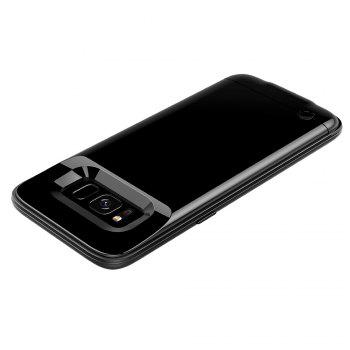 XY004 High Capacity Aluminum Alloy Without Chin Back Clip Mobile Phone Charging Treasure 4200mah for Samsung S8 - BLACK