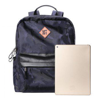 HAUT TON Design Camouflage Canvas Water Resistant Backpack - BLUE BLUE