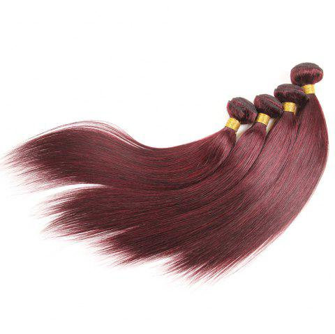 Rebecca Fashion Brazilian Remy Human Hair Straight Weaves R5 1pc/lot 100g RC09177 - BURGUNDY 10INCH