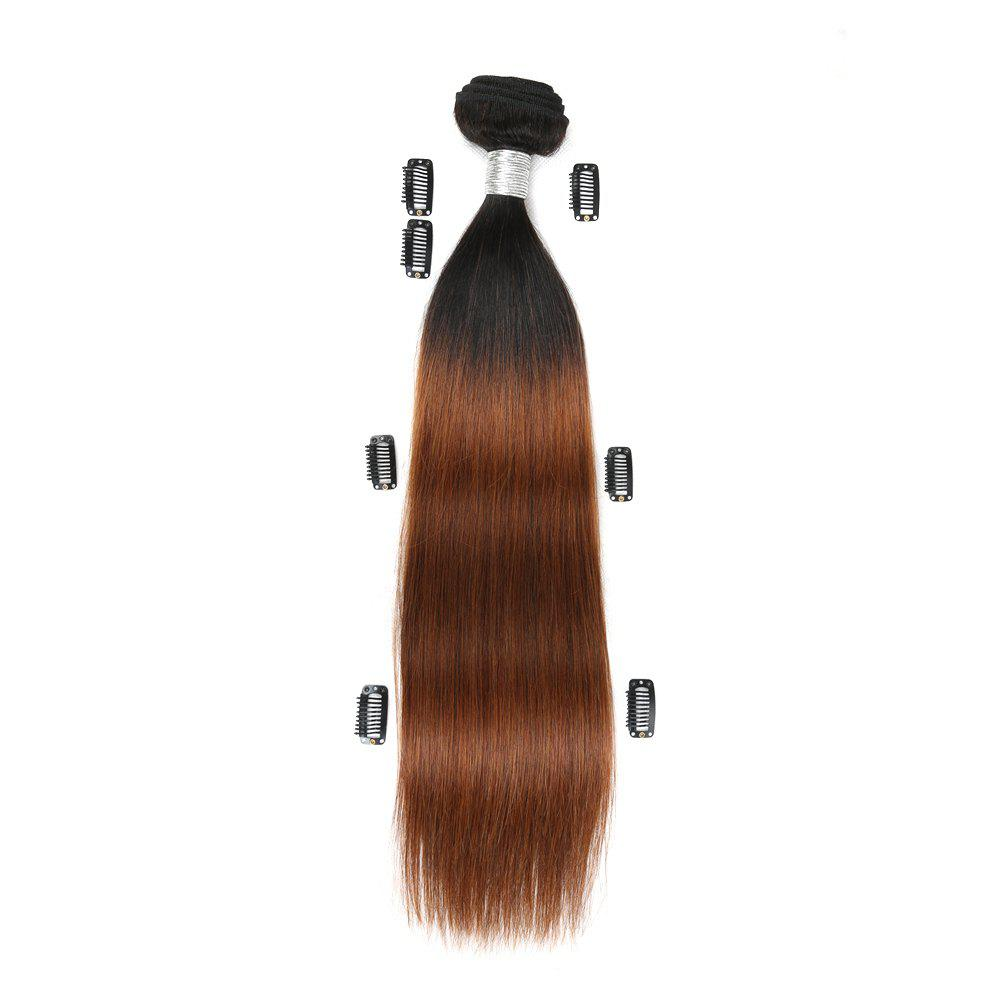 Rebecca Fashion Brazilian Remy Human Hair Straight Weaves R5 1pc/lot 100g RC09177 - BLACK/BROWN 26INCH