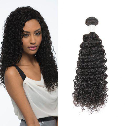 Brazilian Remy Human Hair Jerry Curl Weft R5 1pc Per Lot 95g RC0920 - NATURAL BLACK 28INCH