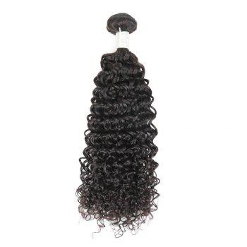 Brazilian Remy Human Hair Jerry Curl Weft R5 1pc Per Lot 95g RC0920 - NATURAL BLACK 18INCH