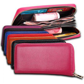 Fashion Women Long Wallets New Style Leather Purses Card Holder Coin Bag Female -  RED