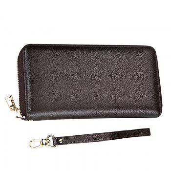 Fashion Women Long Wallets New Style Leather Purses Card Holder Coin Bag Female -  COFFEE
