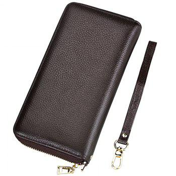 Fashion Women Long Wallets New Style Leather Purses Card Holder Coin Bag Female - COFFEE COFFEE