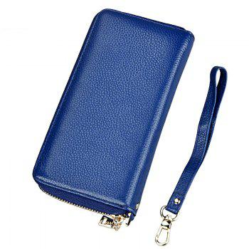 Fashion Women Long Wallets New Style Leather Purses Card Holder Coin Bag Female - BLUE BLUE