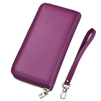 Fashion Women Long Wallets New Style Leather Purses Card Holder Coin Bag Female - PURPLE PURPLE