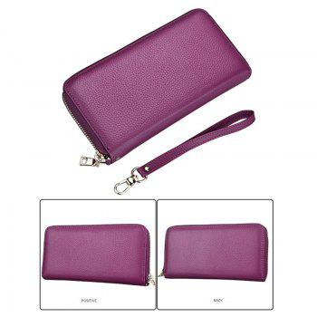 Fashion Women Long Wallets New Style Leather Purses Card Holder Coin Bag Female -  PURPLE