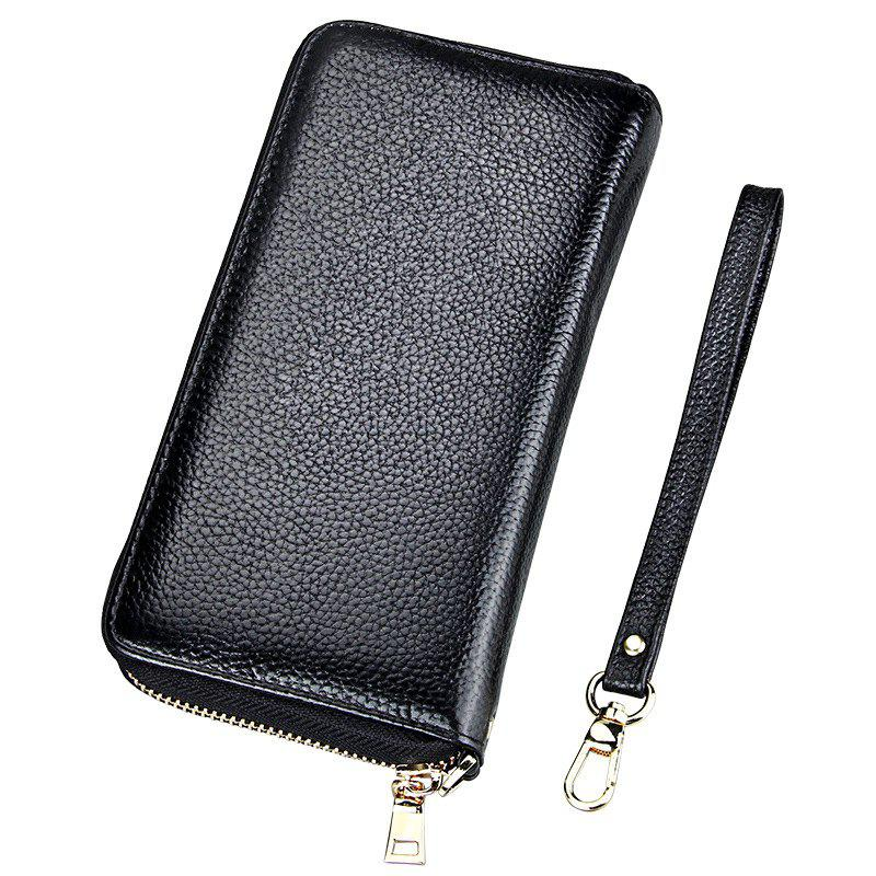 Fashion Women Long Wallets New Style Leather Purses Card Holder Coin Bag Female - BLACK