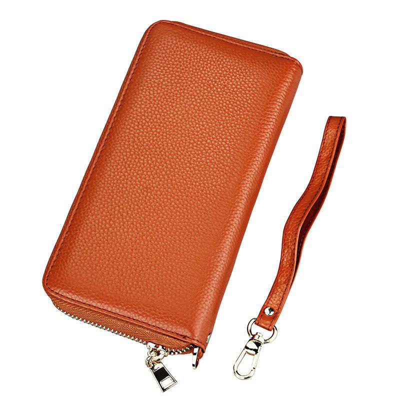 Fashion Women Long Wallets New Style Leather Purses Card Holder Coin Bag Female - BROWN