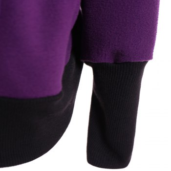 Womens Maternity Kangaroo Hooded Sweatshirt for Baby Carriers Coats - PURPLE PURPLE