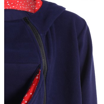 Womens Maternity Kangaroo Hooded Sweatshirt for Baby Carriers Coats - BLUE S