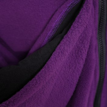 Womens Maternity Kangaroo Hooded Sweatshirt for Baby Carriers Coats - PURPLE 2XL