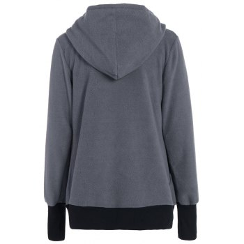 Womens Maternity Kangaroo Hooded Sweatshirt for Baby Carriers Coats - SQUIRREL GREY XL