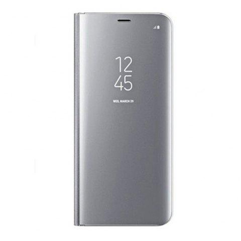 Case for Samsung Galaxy J730 Luxury New Clear View Smart Flip Leather Phone Cover - SILVER