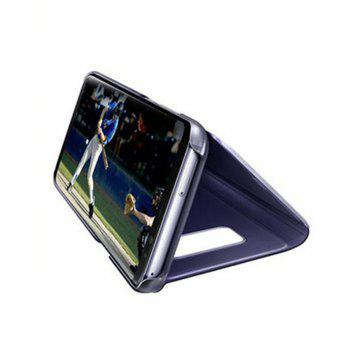 Case for Samsung Galaxy J730 Luxury New Clear View Smart Flip Leather Phone Cover - CERULEAN