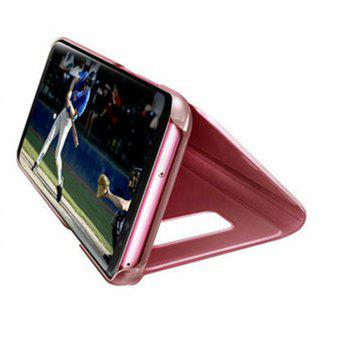 Case for Samsung Galaxy J730 Luxury New Clear View Smart Flip Leather Phone Cover - ROSE GOLD