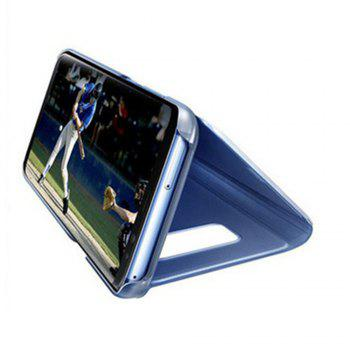 Case for Samsung Galaxy J730 Luxury New Clear View Smart Flip Leather Phone Cover - LIGHT BULE