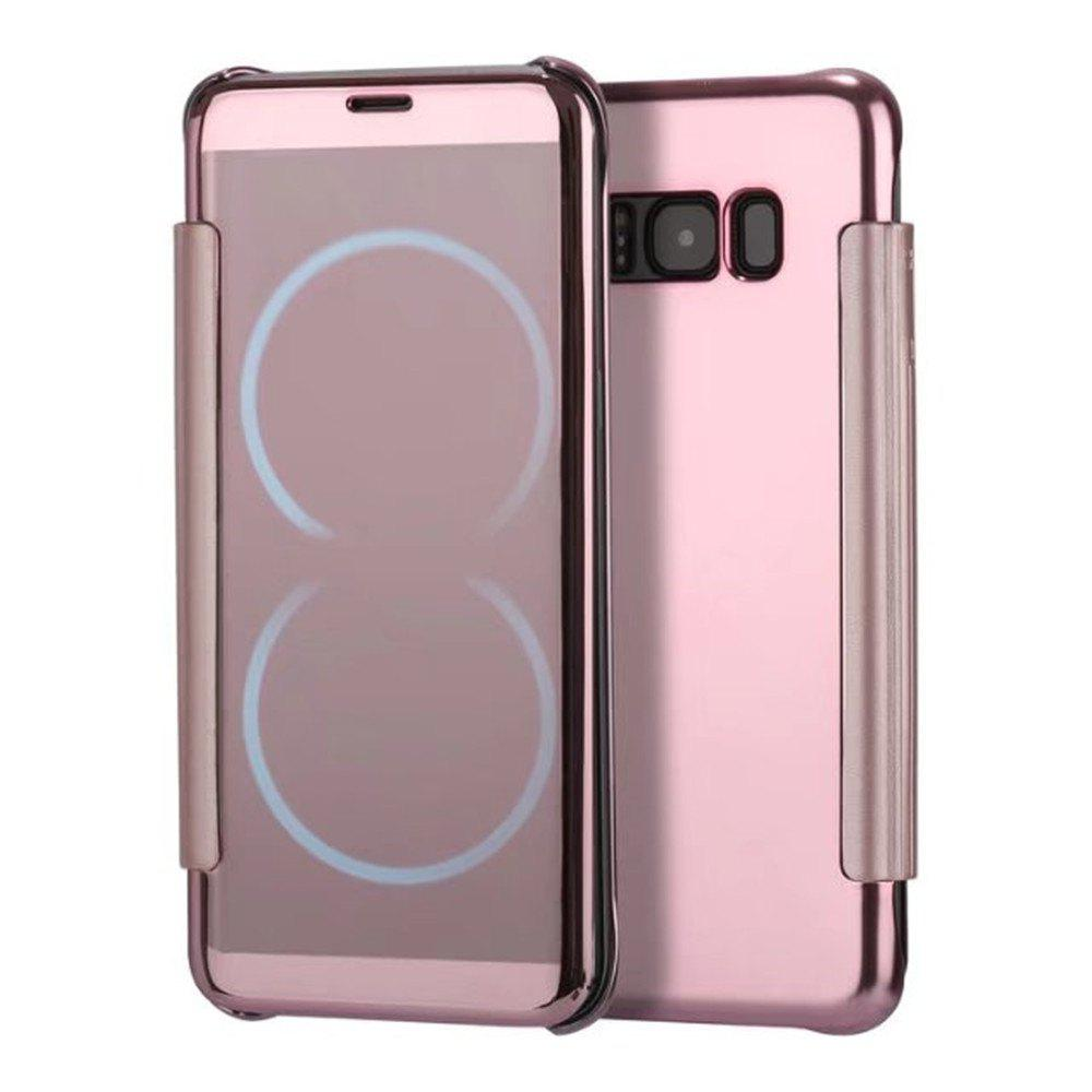Case for Samsung Galaxy S8 Plus Smart View Leather Cover Mobile Phone - ROSE GOLD