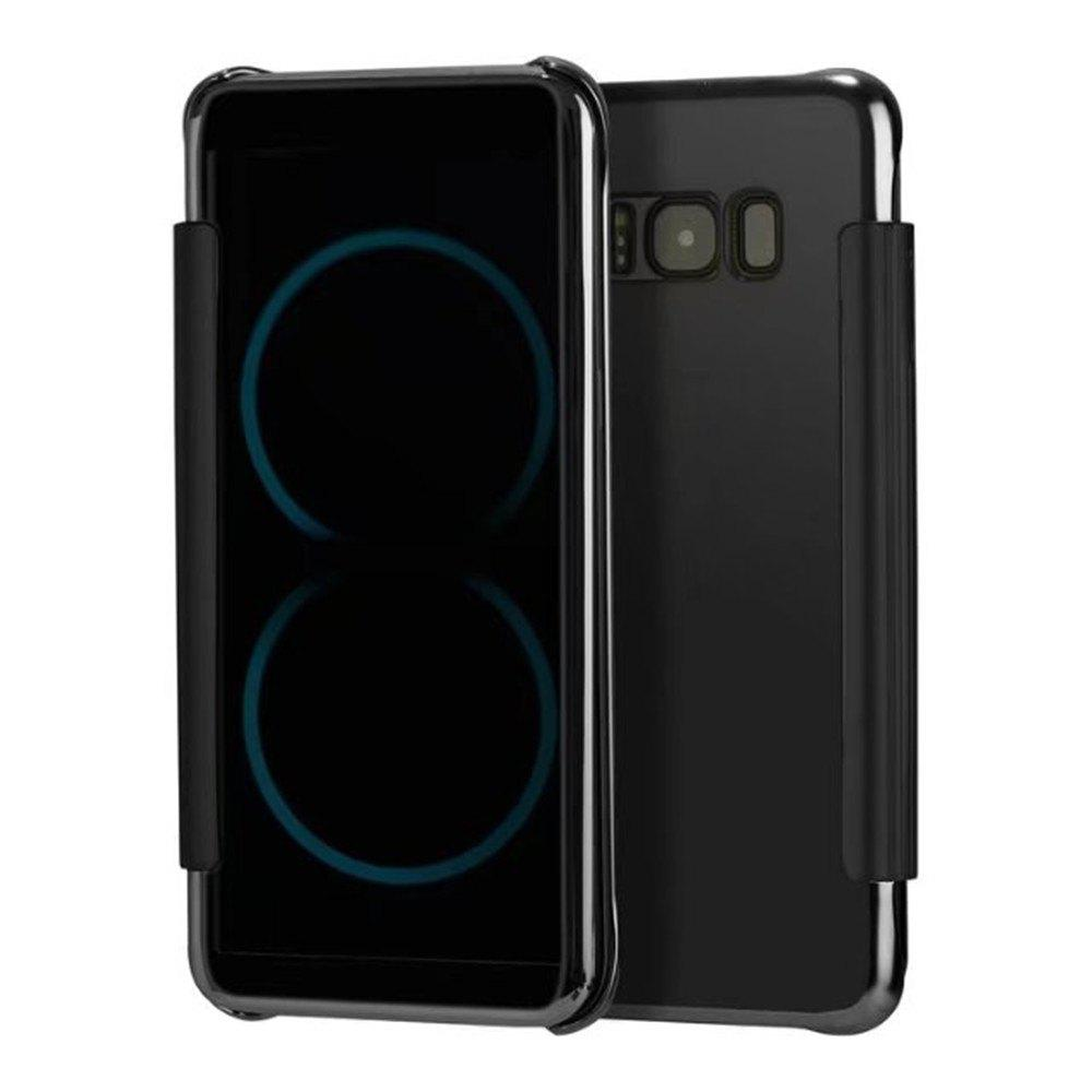 Case for Samsung Galaxy S8 Plus Smart View Leather Cover Mobile Phone - BLACK