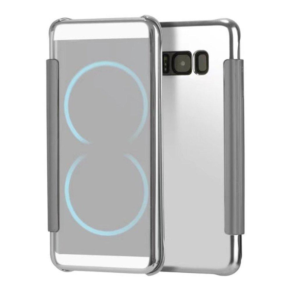 Case for Samsung Galaxy S8 Plus Smart View Leather Cover Mobile Phone - SILVER