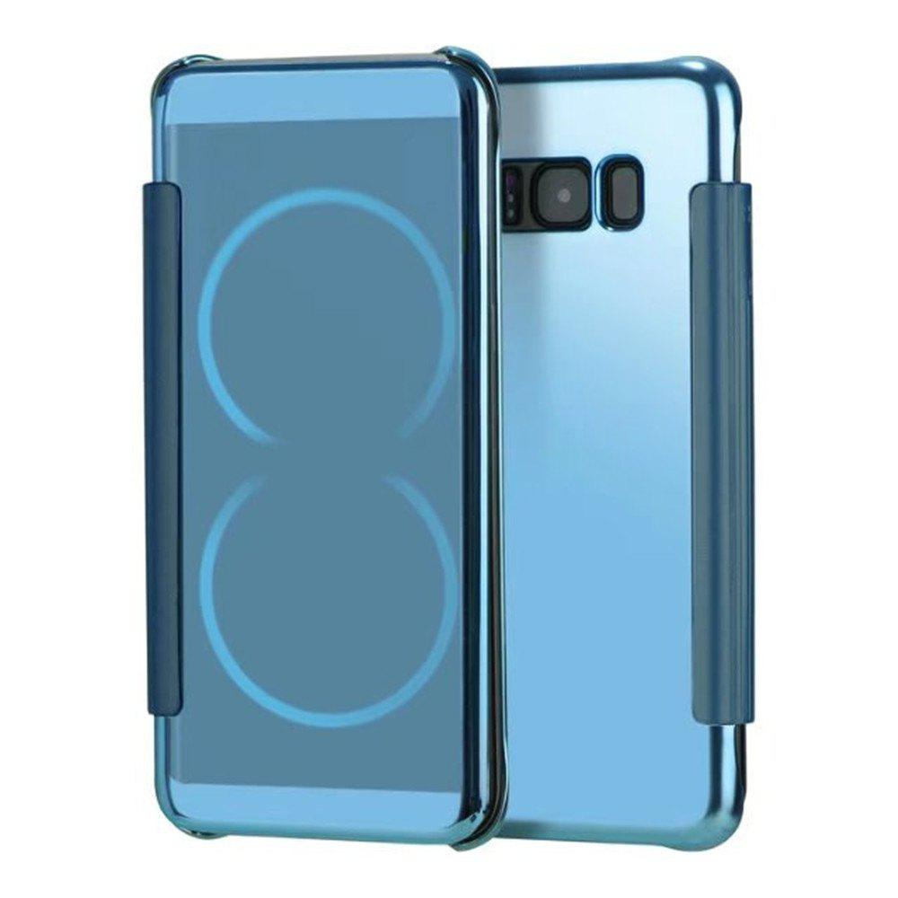 Case for Samsung Galaxy S8 Plus Smart View Leather Cover Mobile Phone - LIGHT BULE